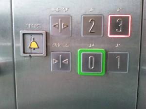 Schaltfläche Aufzug Parkhaus Gießen - klein