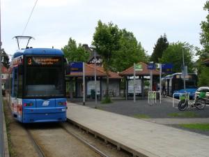 Endhaltestelle Druseltal Linie 3 in Kassel.