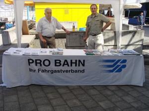 Helmut Lind und Thomas Schwemmer, beide gaben Informationen an die Fahrgäste, Besucherinnen und Besucher am 08.06.2014 in Königstein.