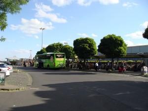 Der Fernbusbahnhof in Kassel-Wilhelmshöhe.