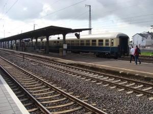 Der Sonderzug am 27.09.2014 beim Bahnhofsfest in Bebra.