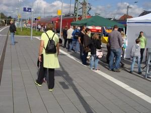Dann am Mittag des 27.09.2014 in Bebra kamen die interessierten Gäste.