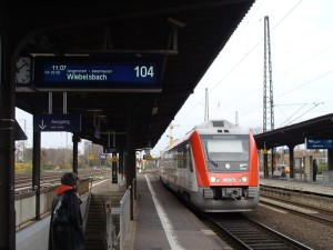 Odenwaldbahn in Hanau