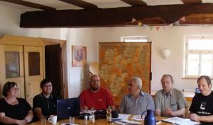 Ein Teil der Klausurteilnehmer am 02.08.2015 in Hopfmannsfeld.