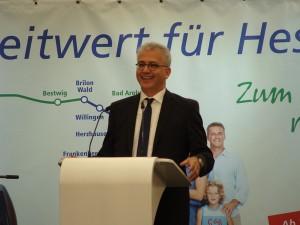Der Hessische Minister für Wirtschaft, Energie, Verkehr und Landesentwicklung, Tarek Al-Wazir am 11.09.2015 in Herzhausen.
