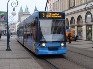 Die Straßenbahnlinie 3 in Kassel. Noch fährt sie über den Bhf. Wilhelmshöhe bis Druseltal. Diesen Abschnitt soll künftig die Linie 4 befahren.