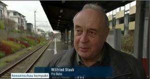 Wilfried Staub vom PRO BAHN Landesverband Hessen (verantwortlich für Pressearbeit) im Interview mit der Hessenschau am 06.01.2016.