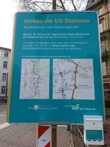 Baustellen-Hinweistafel Eckenheimer Landstraße - 2016-04-02