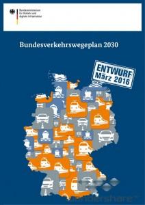Seiten aus Bundesverkehrswegeplan 2030 - Titelseite - klein 500