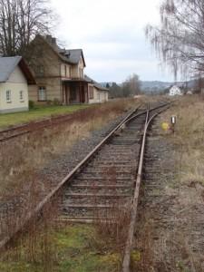 Der Bahnhof Londorf der Lumdatalbahn, Endbahnhof des Personenverkehrs bis Ende Mai 1981.