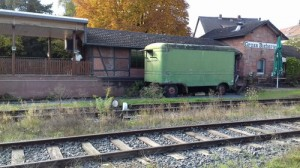 Der Bahnhof von Groß-Bieberau.