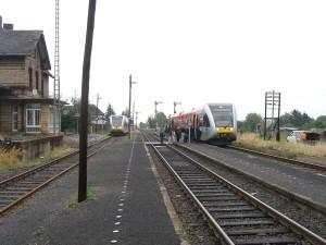 Der Bahnhof der Horlofftalbahn in Beienheim - hier soll nach Willen von örtlicher Politik und ´diversen Verkehrsträgern investiert werden.