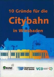 Flyer Citybahn Wiesbaden - 10 Gründe dafür - Titelblatt