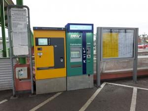 Der neue RMV-Fahrkartenautomat - aktuell weiterhin ohne DB-Fahrkartenangebot.